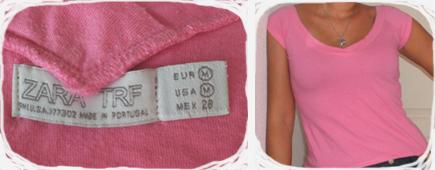 T-shirt rose Zara | 5€